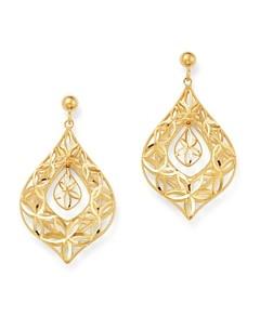 Bloomingdale's Open-Weave Teardrop Earrings in 14K Yellow Gold - 100% Exclusive