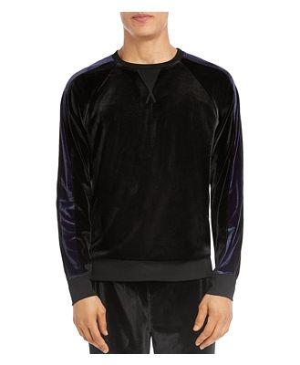 2(X)Ist Velour Color-Block Crewneck Sweatshirt