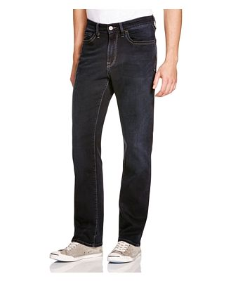 34 Heritage Charisma Comfort-Rise Classic Straight Fit Jeans in Midnight Austin