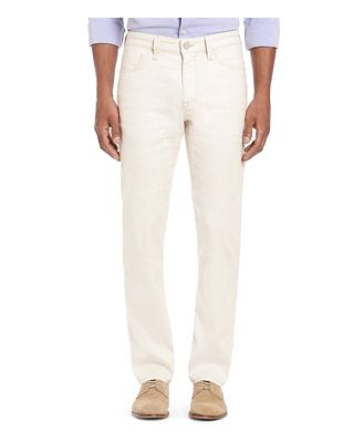 34 Heritage Courage Straight Slim Fit Jeans in Bone