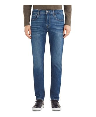 7 For All Mankind Adrien Luxe Sport Tapered Fit Jeans in Delos