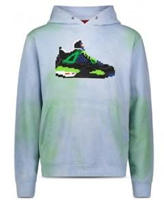 8-Bit by Mostly Heard Rarely Seen Sneaker Graphic Tie-Dye Hoodie