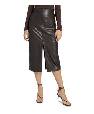A.l.c. Moss Faux Leather Pencil Skirt