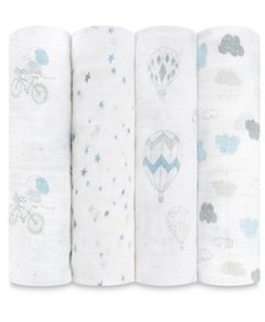 Aden and Anais Night Sky Reverie Classic Swaddles, 4 Pack