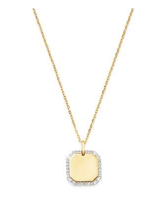 Adina Reyter 14K Yellow Gold Diamond Dog Tag Necklace, 20
