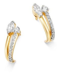 Adina Reyter 14K Yellow Gold Grace Diamond J Hoop Earrings
