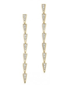 Adina Reyter 14K Yellow Gold & Pave Diamond Triangle Link Drop Earrings