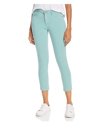 Ag Prima Mid-Rise Cropped Skinny Jeans in Mint Jade