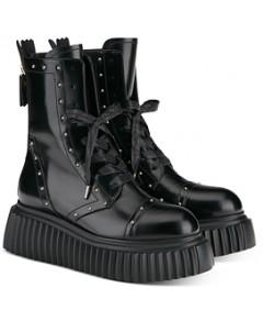 Agl Women's Milagros Lace Up Platform Combat Boots