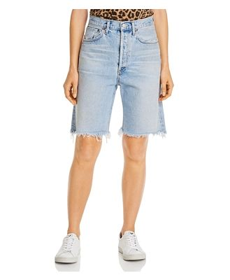 Agolde 90's Mid-Rise Loose Denim Jean Shorts in Riptide