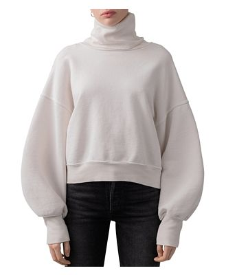 Agolde Balloon-Sleeve Turtleneck Sweatshirt