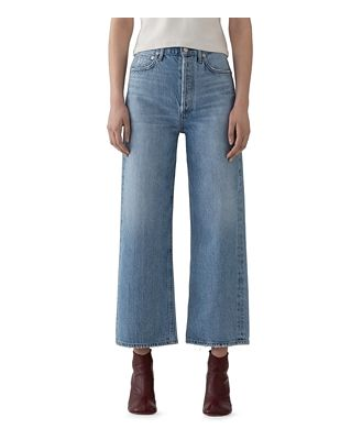 Agolde Blur Ren High-Rise Cropped Wide-Leg Jeans