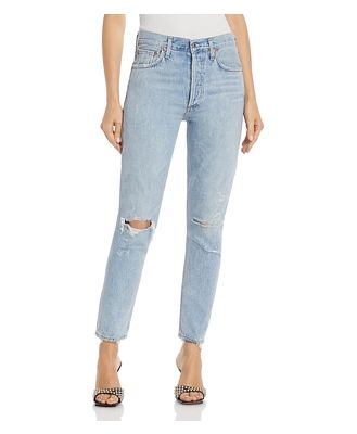 Agolde Jamie High Rise Tapered Jeans in Shakedown