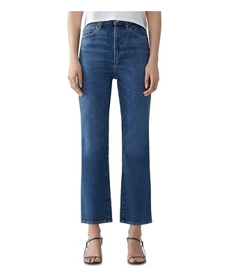 Agolde Pinch-Waist Ankle Jeans in Subdued