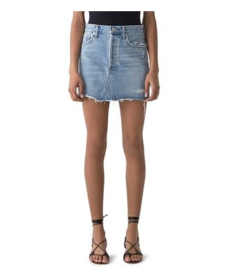 Agolde Quinn Denim Mini Skirt in Swapmeet