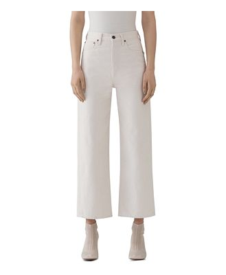 Agolde Ren High-Rise Cropped Wide-Leg Jeans in Paper