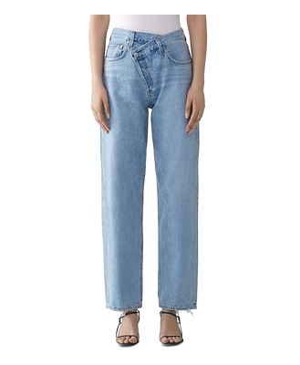Agolde Suburbia Criss-Cross High-Rise Jeans