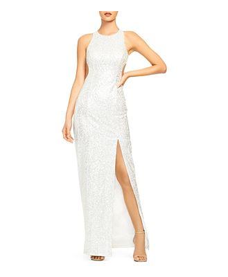 Aidan by Aidan Mattox Sequin Cutout Gown