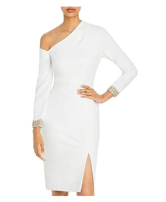 Aidan Mattox Asymmetric Embellished Dress