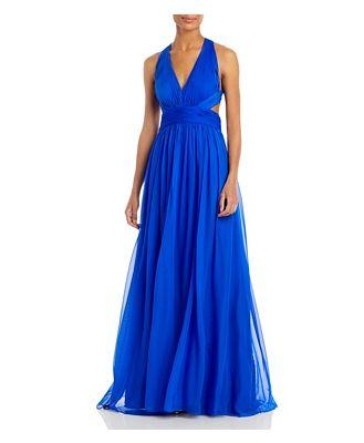 Aidan Mattox Cutout Silk Gown - 100% Exclusive