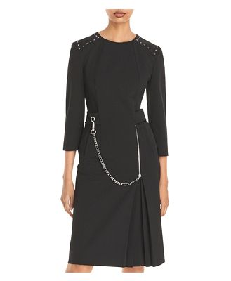 Alberta Ferretti Chain Fit-and-Flare Dress
