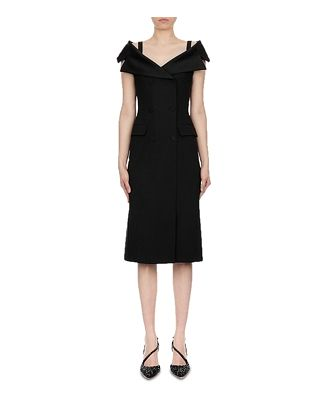 Alberta Ferretti Enver Satin Midi Dress