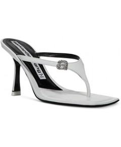 Alexander Wang Women's Ivy 65 Embellished High Heel Thong Sandals