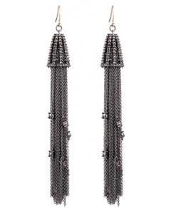 Alexis Bittar Crystal Tassel Earrings