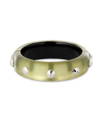 Alexis Bittar Future Antiquity Crystal Octagon-Studded Bangle Bracelet