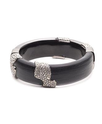 Alexis Bittar Pave Crystal Station Hinge Bracelet