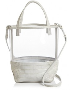 Alice.d Small Clear & Leather Tote - 100% Exclusive