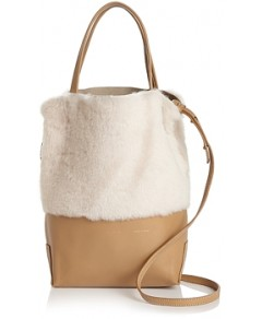 Alice.d Small Leather & Shearling Tote - 100% Exclusive