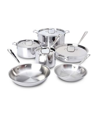 All-Clad D3 Stainless 10 Piece Cookware Set