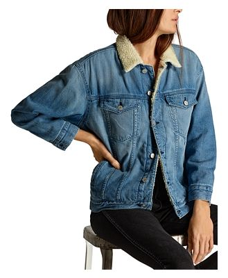 Amo Fleece Lined Denim Jacket