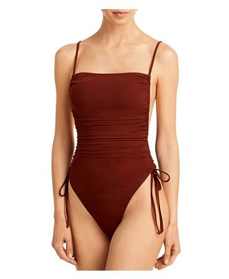 Andrea Iyamah Adan Ruched One Piece Swimsuit