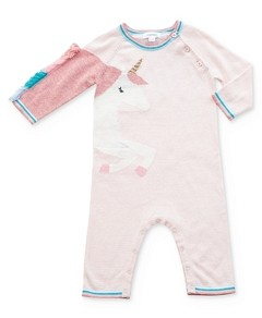 Angel Dear Girls' Knit Unicorn Coverall - Baby
