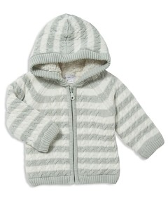 Angel Dear Unisex Sherpa-Lined Knit Jacket - Baby