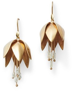 Annette Ferdinandsen Design 14K Gold Crown Imperial Earrings With Pearl Accents