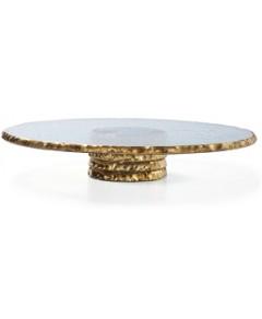 Annieglass Edgey Pedestal Cake Plate