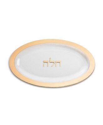 Annieglass Judaica Challah Platter, Gold