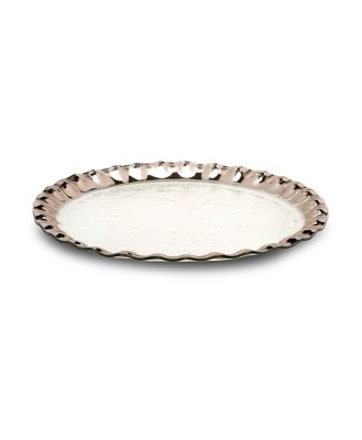 Annieglass Ruffled Round Entertaining Platter