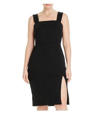 Aqua Curve Ribbed Sleeveless Bodycon Dress - 100% Exclusive
