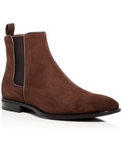 Aquatalia Men's Adrian Weatherproof Suede Chelsea Boots