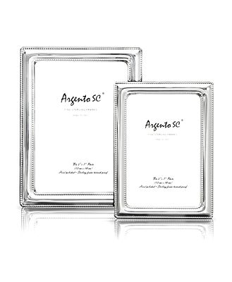 Argento Double Bead Sterling Silver Frame, 5 x 7