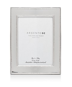 Argento Sc Amira Double-Bead Sterling Silver Frame, 5 x 7