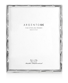 Argento Sc Bamboo Sterling Silver Frame, 8 x 10