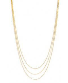 Argento Vivo Ball & Herringbone Chain Layered Necklace in 14K Gold Plated Sterling Silver, 16-18