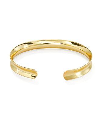 Argento Vivo G Flat Bold Cuff Bracelet in 18K Gold-Plated Sterling Silver