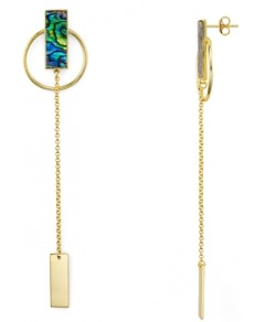 Argento Vivo Linear Circle Drop Earrings in 18K Gold-Plated Sterling Silver