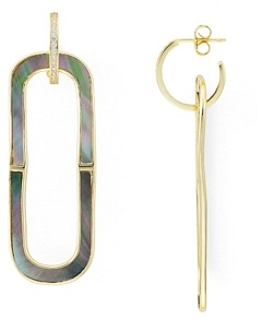 Argento Vivo Oval Mother-of-Pearl Drop Earrings in 18K Gold-Plated Sterling Silver